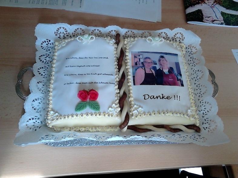 Die Geburtstagstorte (Foto: Gerlach)