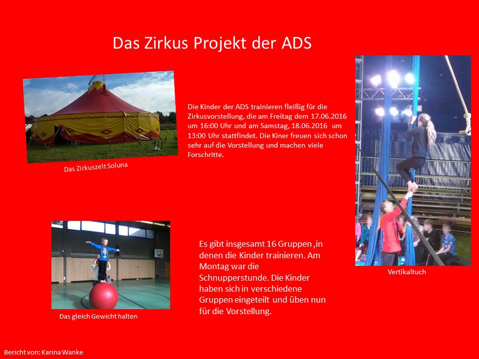 Bericht zum Zirkusprojekt